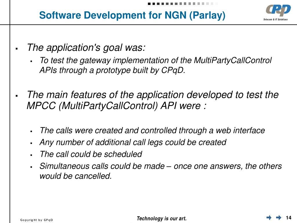 Software Development for NGN (Parlay)