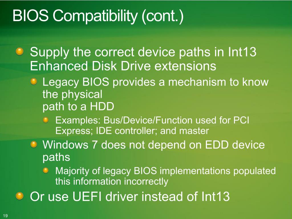 PPT - Enhancing Your UEFI BIOS for Windows 7 PowerPoint