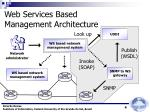 web services based management architecture