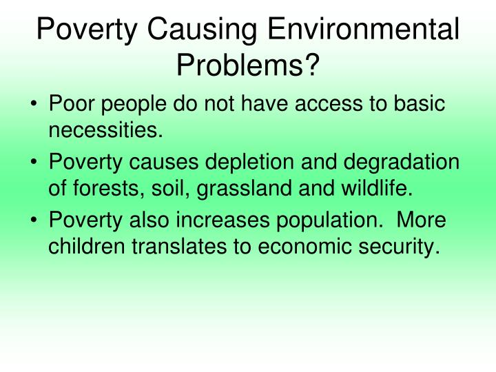 causes of environment