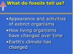 what do fossils tell us