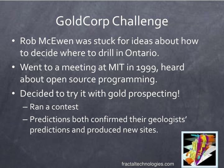 GoldCorp Challenge