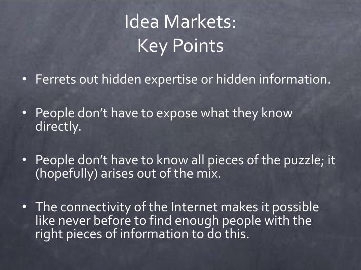 Idea Markets: