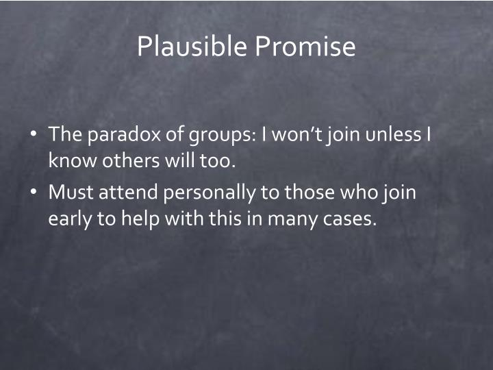 Plausible Promise