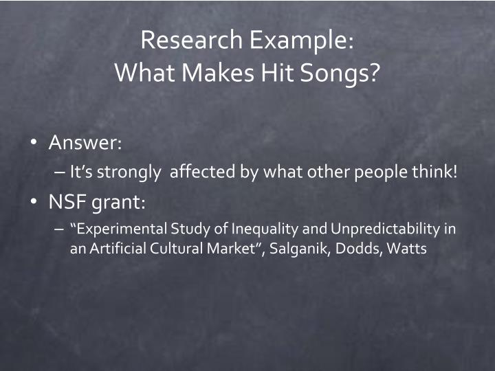 Research Example:
