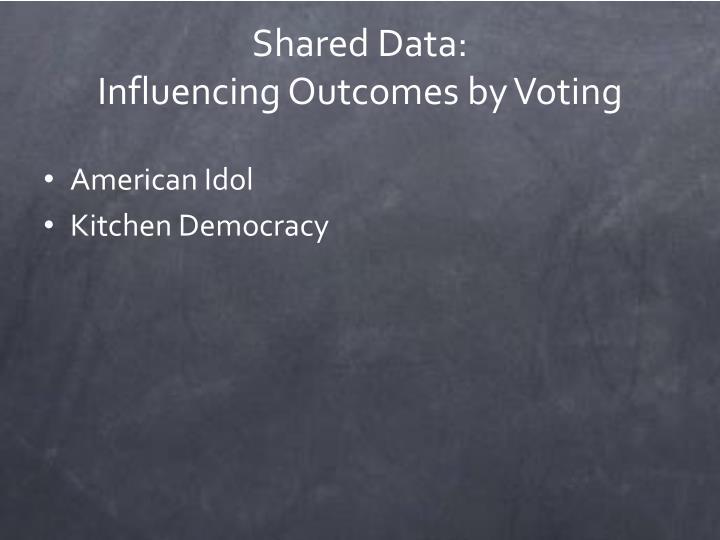 Shared Data:
