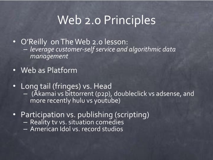 Web 2.0 Principles