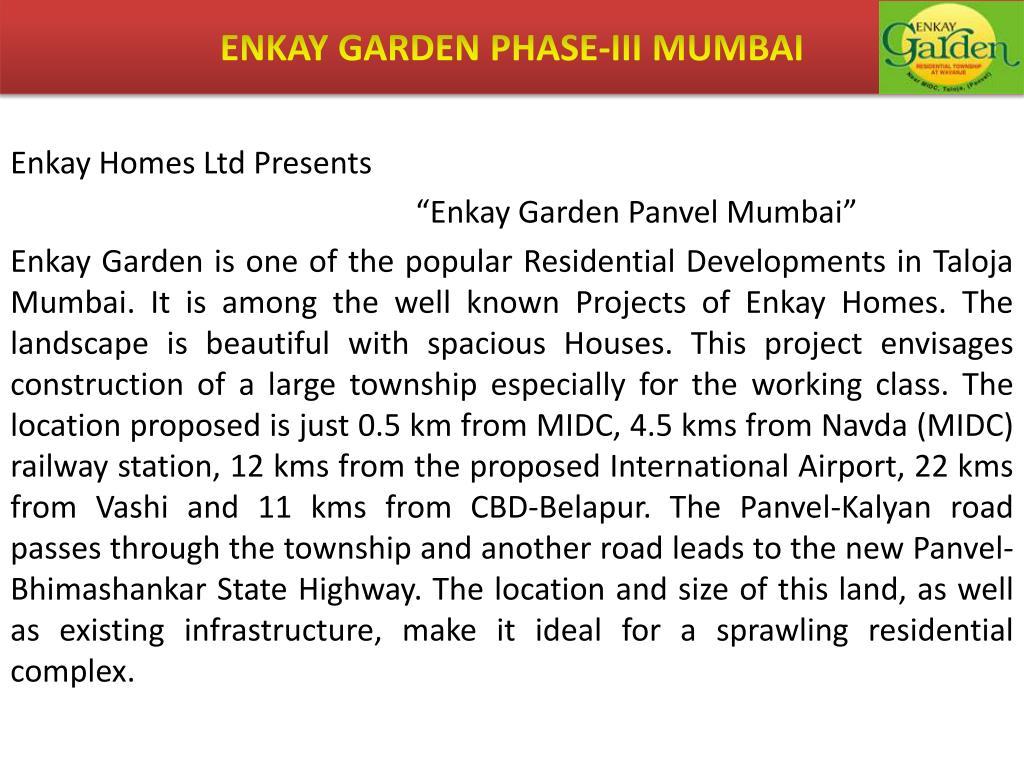 ENKAY GARDEN PHASE-III MUMBAI