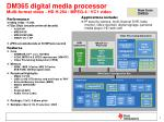dm365 digital media processor multi format video hd h 264 mpeg 4 vc1 video