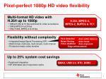 pixel perfect 1080p hd video flexibility