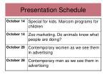 presentation schedule1