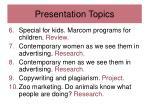 presentation topics1