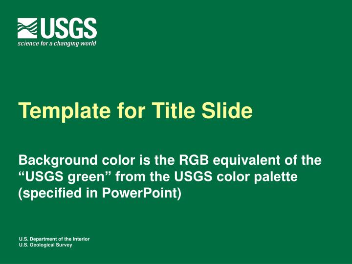 PPT - Template for Title Slide PowerPoint Presentation - ID:1093400