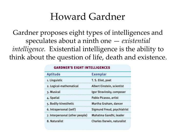 gardner existential intelligence