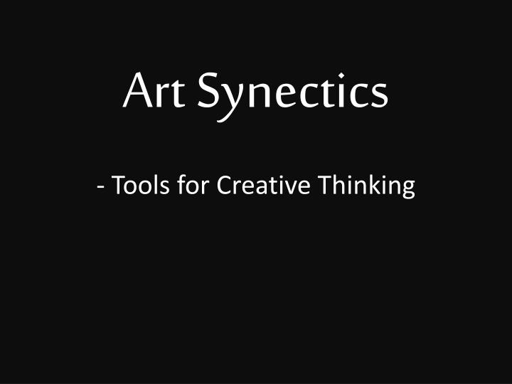 art synectics tools for creative thinking n.