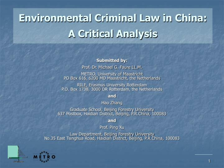 a critical analysis of the one baby law in china For example, one country's correctional sample may be similar to another country's psychiatric sample, depending on the laws and attitudes toward prosecution the purposes of this paper are to summarize recent research findings about maternal filicide, and to consider potential strategies for prevention.