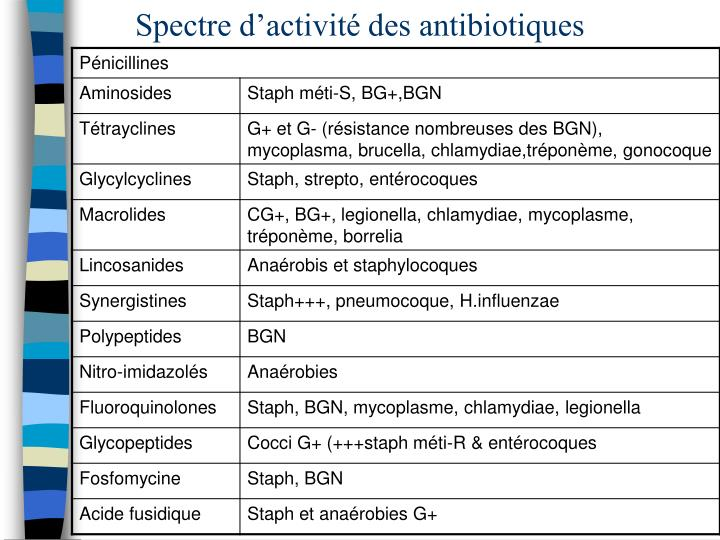 PPT - Antibiotiques PowerPoint Presentation - ID:1093506