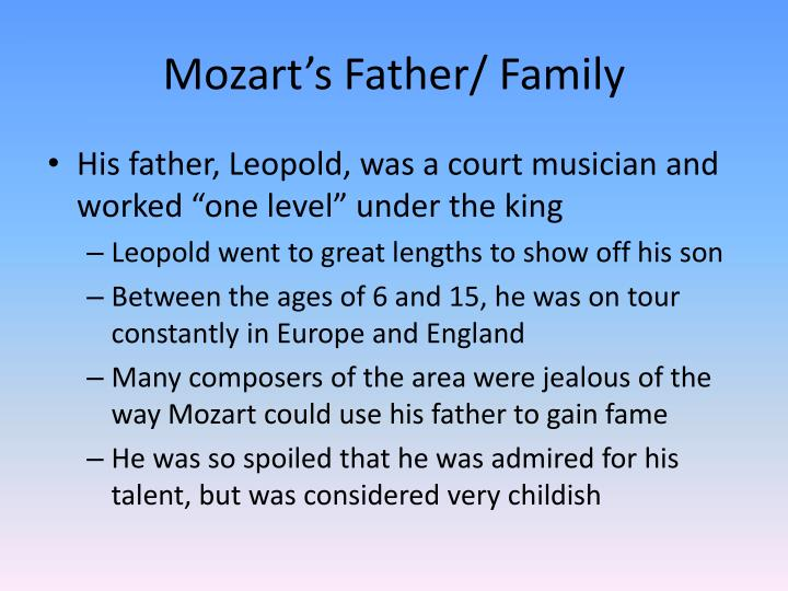 Mozart s father family