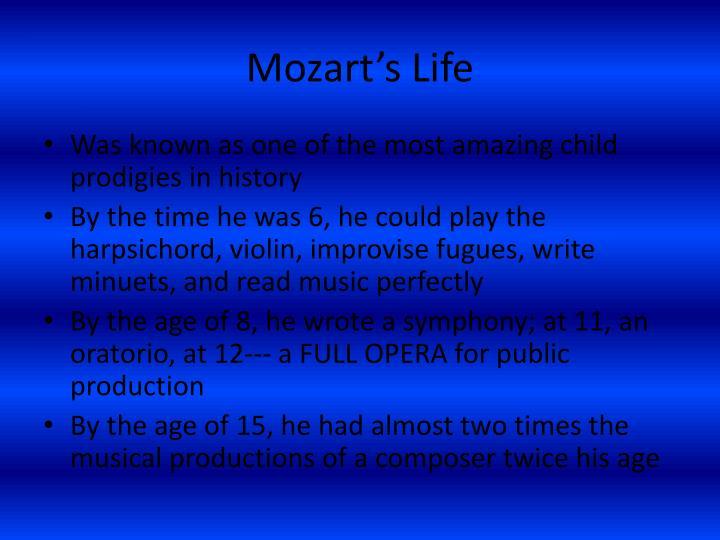 Mozart s life