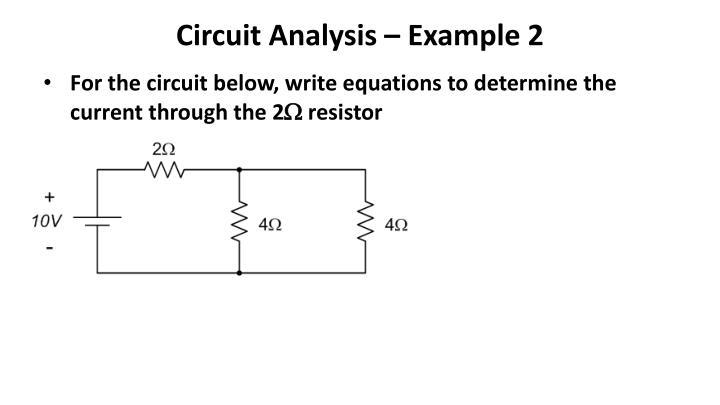 Circuit Analysis – Example 2
