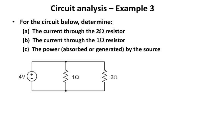 Circuit analysis – Example 3