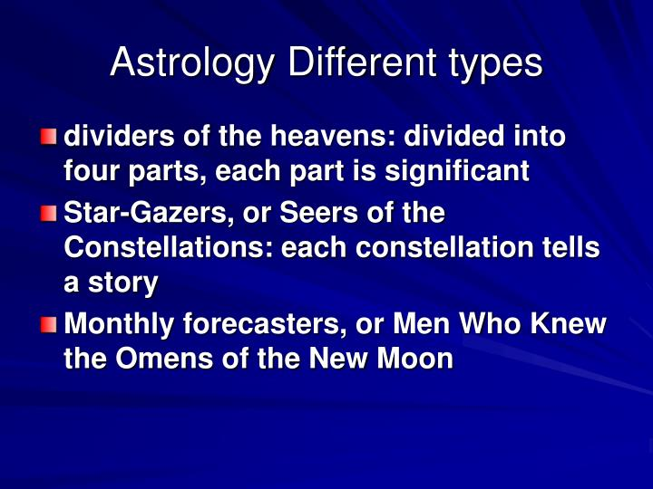 Astrology Different types