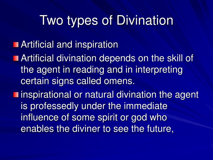 Two types of divination