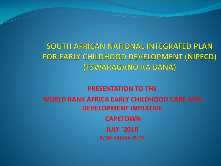 business plan for early childhood development Plan and prepare for early childhood development facilitate and monitor the development of babies, toddlers and young children provide care and support to.