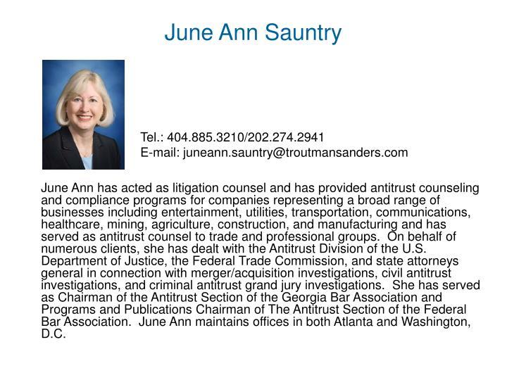 June Ann Sauntry