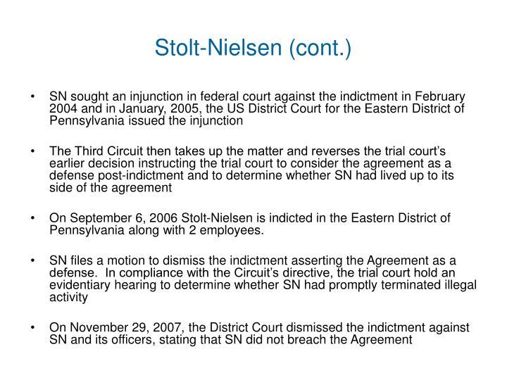 Stolt-Nielsen (cont.)