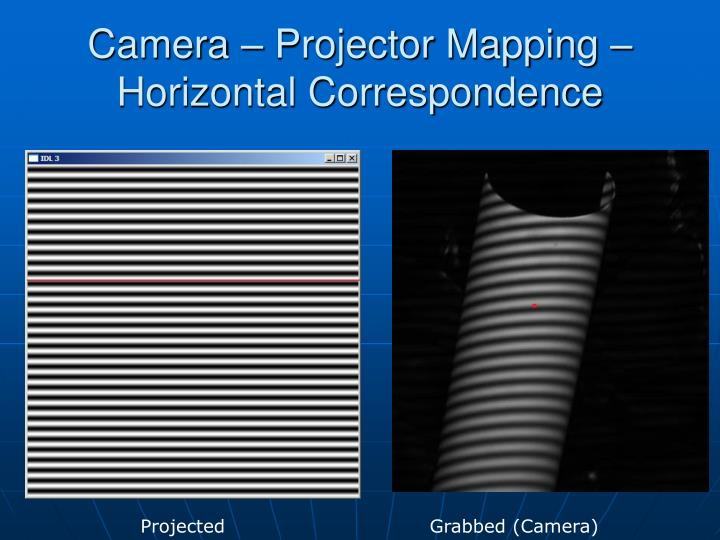 Camera – Projector Mapping – Horizontal Correspondence