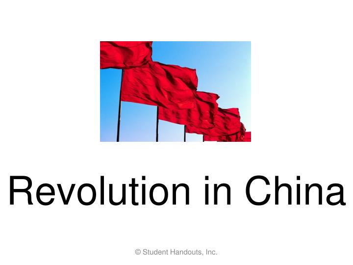 revolution in china n.