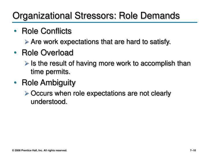 Organizational Stressors: Role Demands