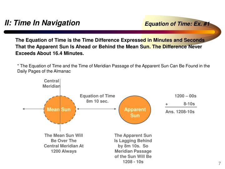 Equation of Time: Ex. #1