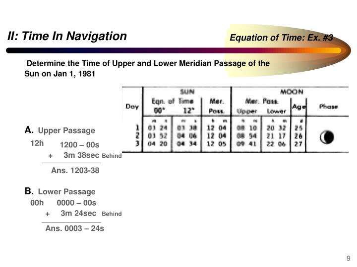 Equation of Time: Ex. #3