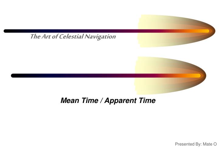 Mean time apparent time