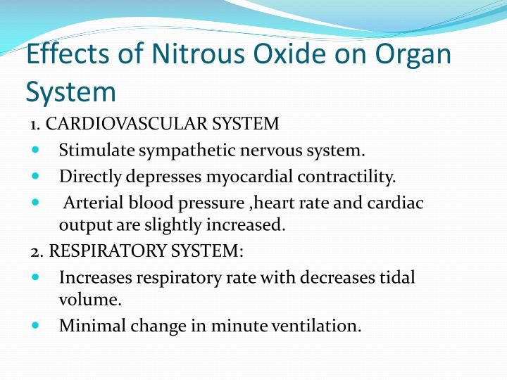 Effects of Nitrous Oxide on Organ System