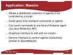 application maestro