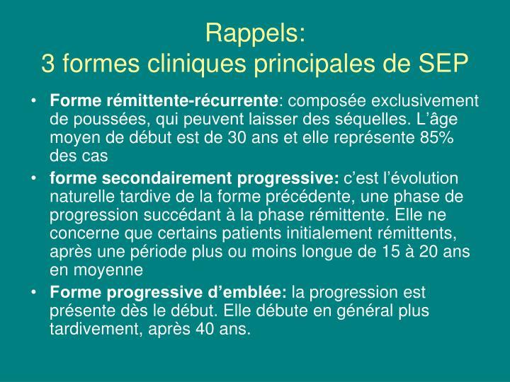 Rappels: