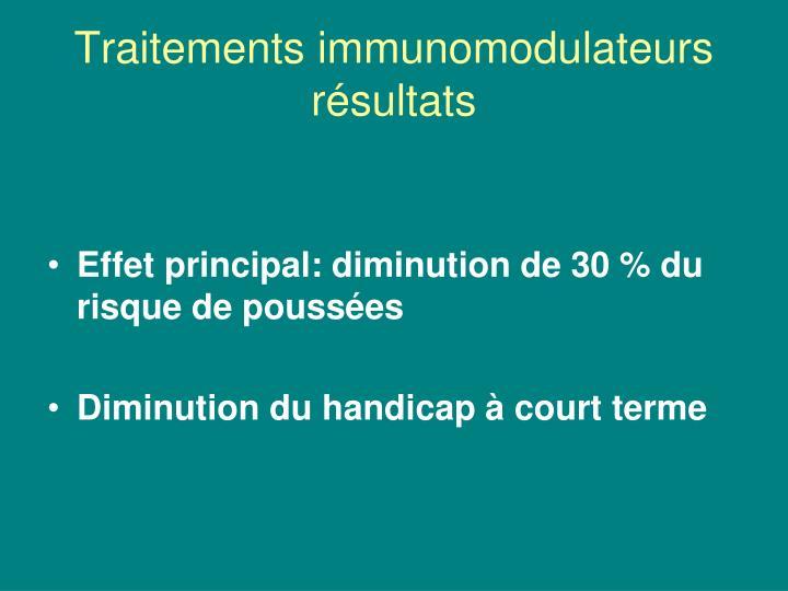 Traitements immunomodulateurs