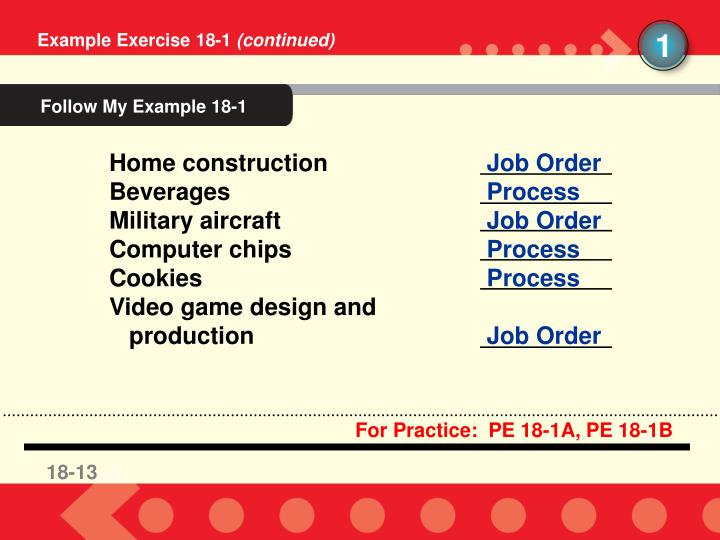 Follow My Example 18-1
