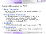 required properties for wsc7
