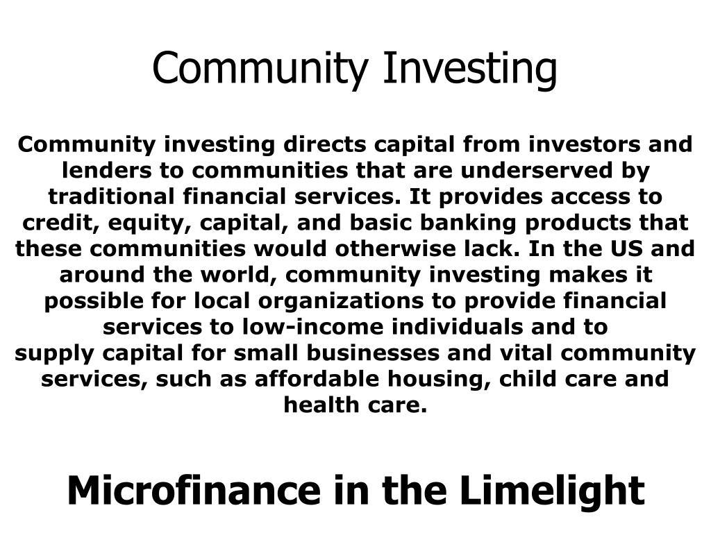 Community Investing
