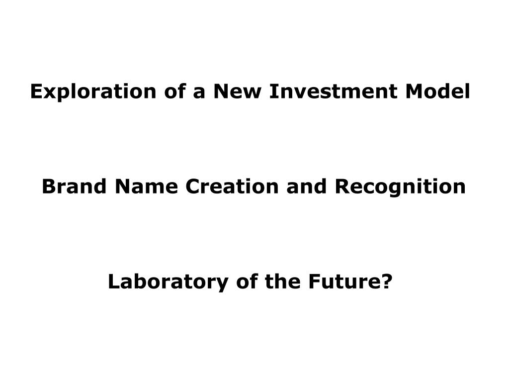 Exploration of a New Investment Model
