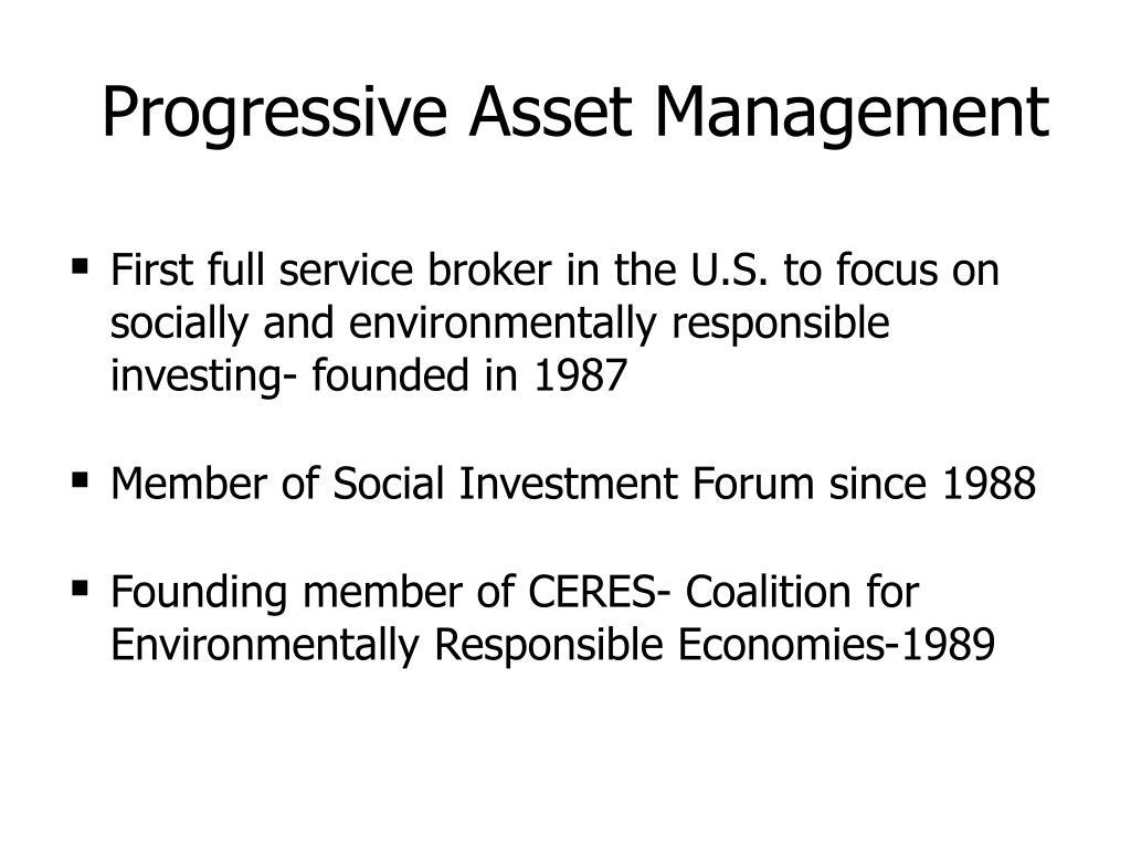 Progressive Asset Management