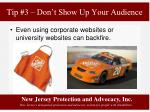 tip 3 don t show up your audience2