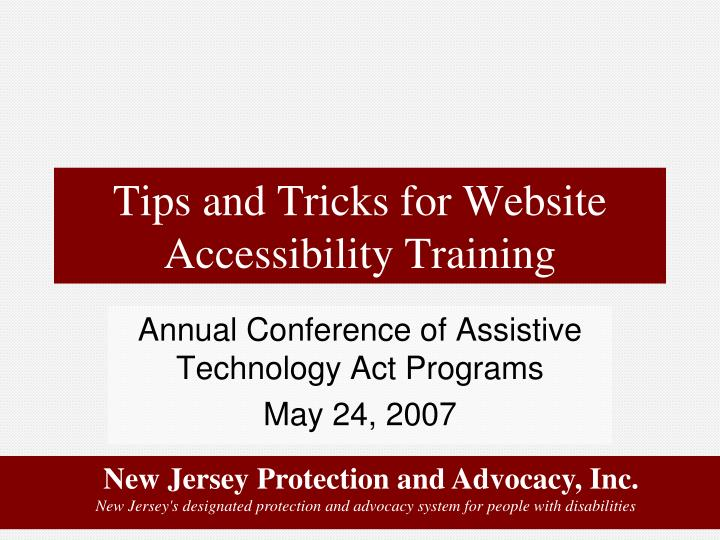 tips and tricks for website accessibility training n.