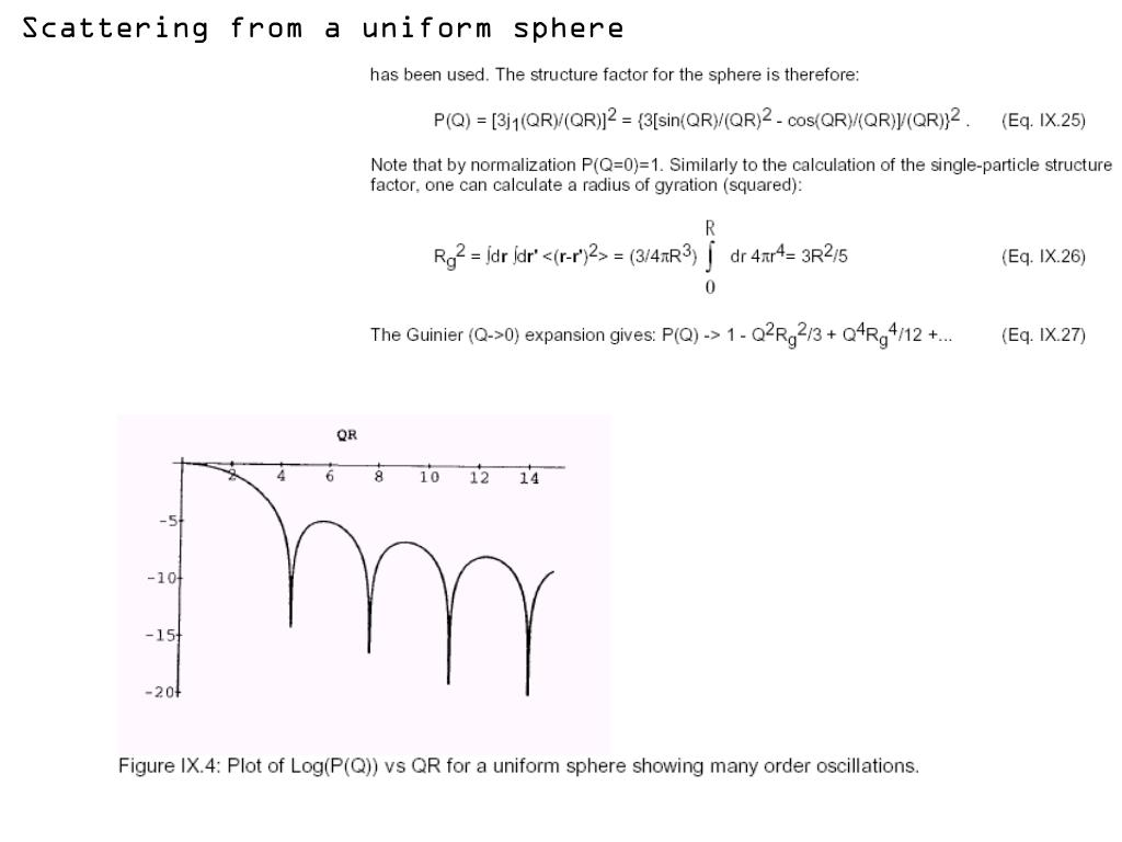 Scattering from a uniform sphere