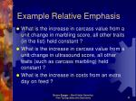 example relative emphasis