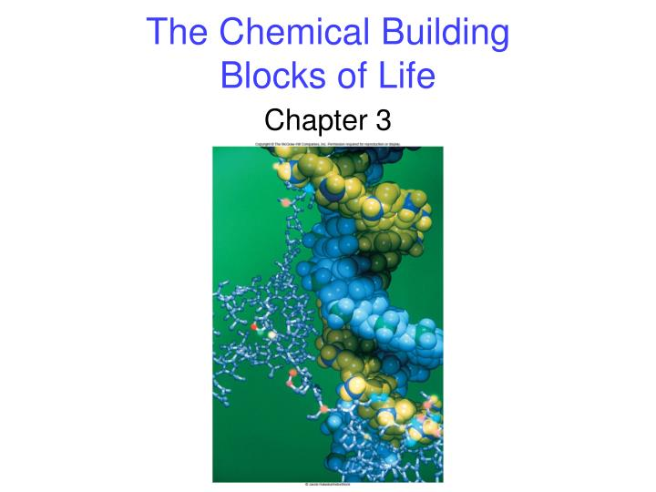 the chemical building blocks of life n.